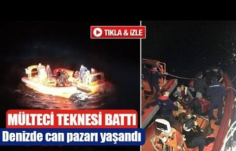 Mülteci teknesi battı