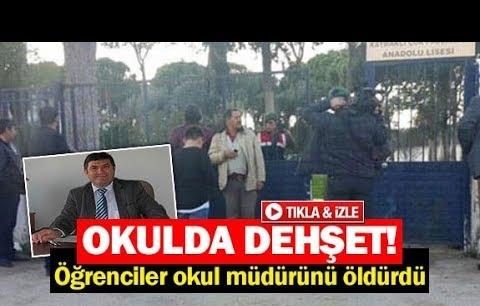 Öğrenciler okul müdürünü öldürdü