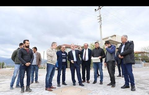 Pamukkale Belediyesi'nin üstyapı çalışmaları devam ediyor