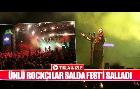 Ünlü rockçılar Salda Fest'i salladı